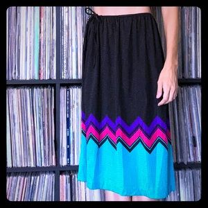 Catalina Vintage Swim Coverup Skirt Chevron